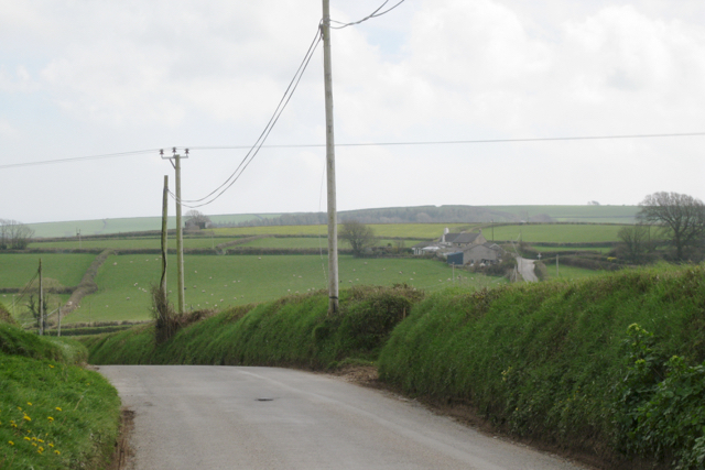 Lane south to Cotterbury from The Beacon