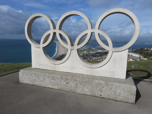 Olympic Rings Stone Sculpture, Isle of Portland