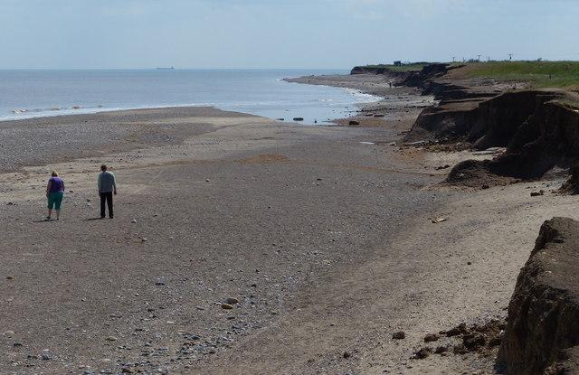 Shoreline at Kilnsea Warren