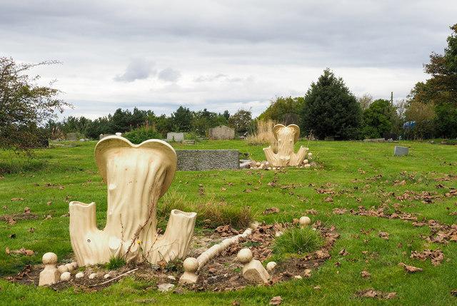 Cemetery near to Dipton