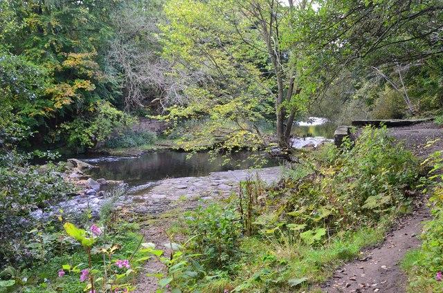 Site of weir, River Wansbeck