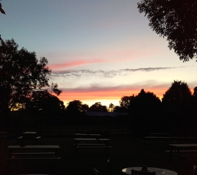 Sunset from The Green Dragon