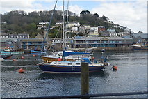 SX2553 : Boats moored, River Looe by N Chadwick