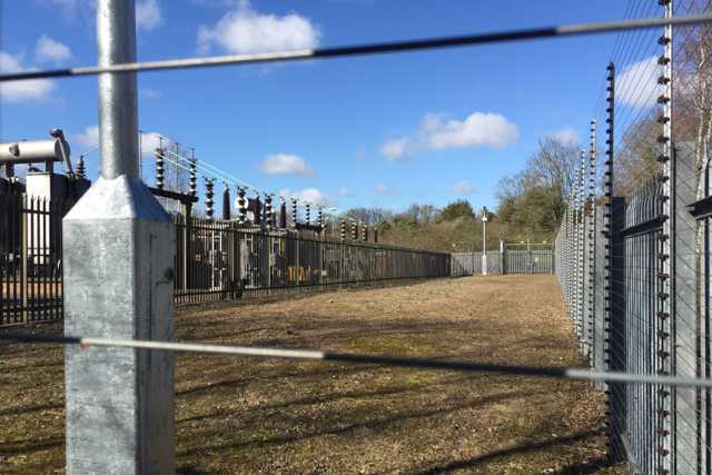 Access to electricity substation, northeast of Tesco store, Warwick