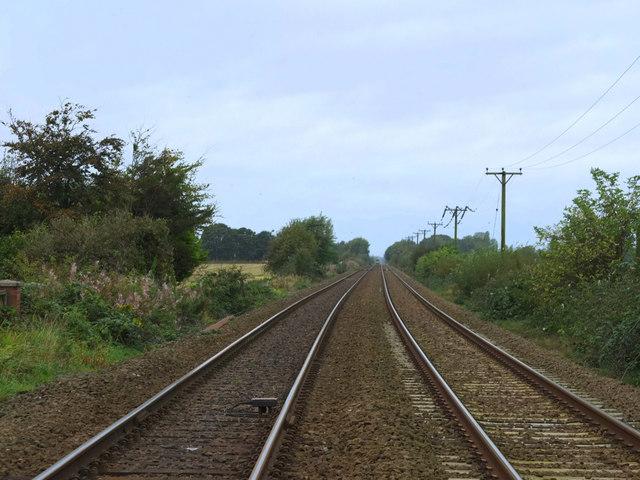 Railway lines at Crab Tree Lane, Burscough