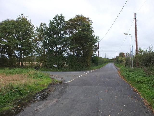 Junction of Crab Tree Lane and Orrell Lane, Burscough