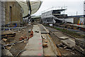 TR2335 : Folkestone Harbour Station restoration by Ian Taylor