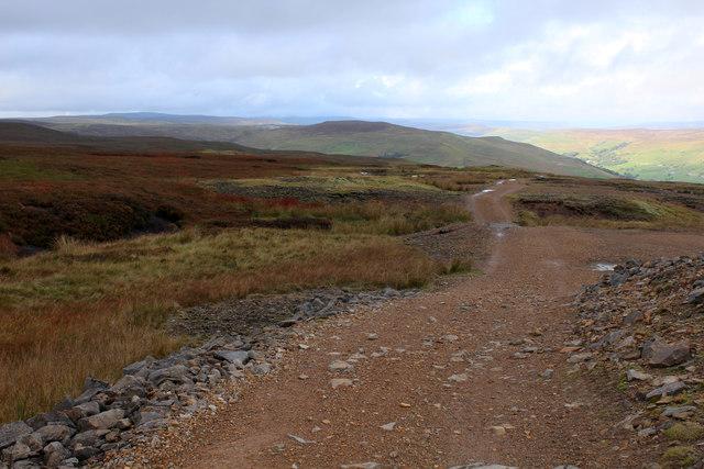 Moorland Track below Ashpot Gutters