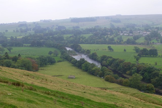 Looking down on the River Tees