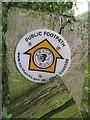 SE4379 : Swale  Way  footpath  sign by Martin Dawes