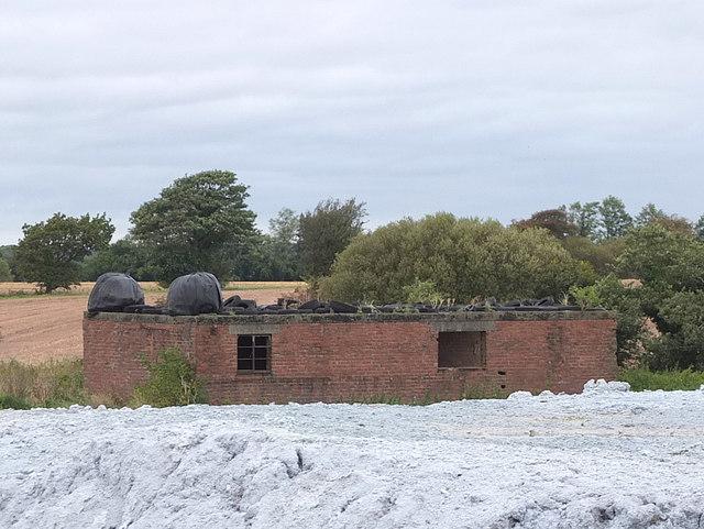 WWII era derelict buildings near Plantation Cottage, Burscough Industrial Estate