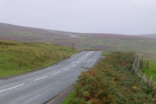 The B6278 winds up Muggleswick Common