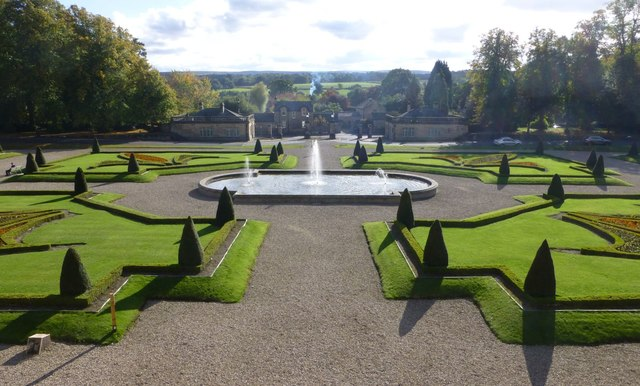 The parterre at Bowes Museum