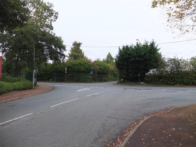 Junction of Higgins Lane and Crabtree Lane, Burscough