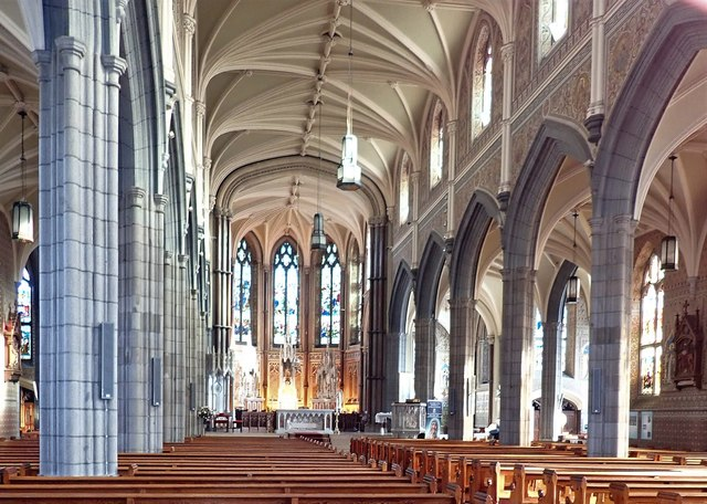 The interior of St Patrick's and St Colman's Cathedral