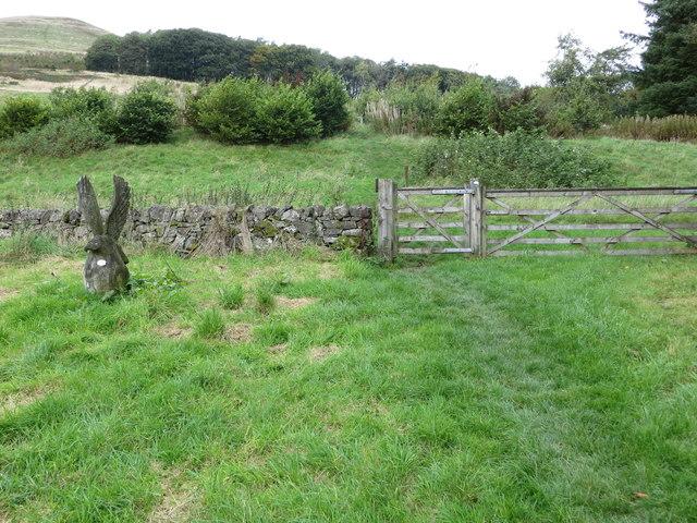 Footpath leading onto Seamab Hill