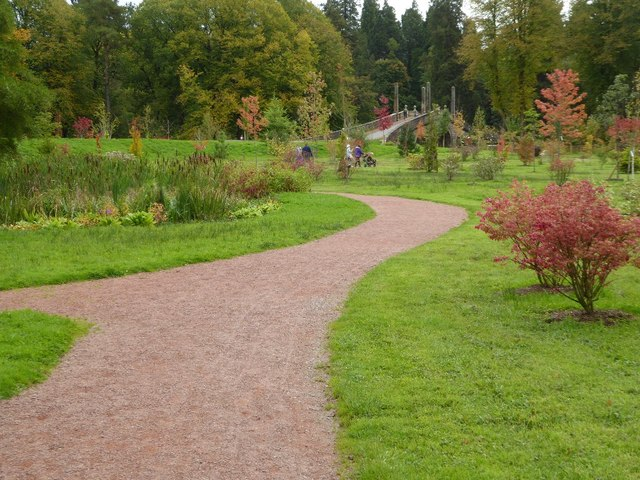 Path in gardens of Dumfries House
