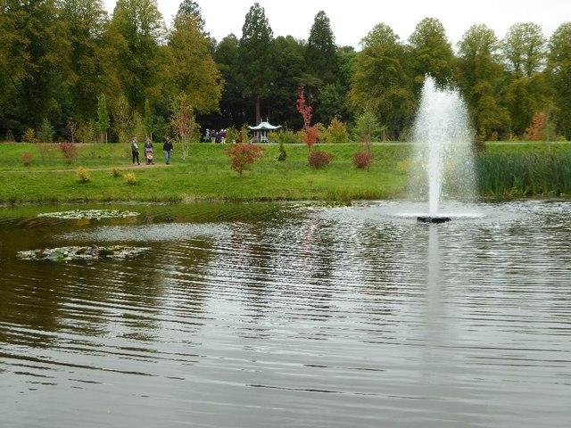 Fountain and lake