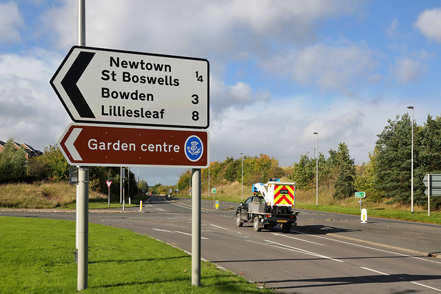 The A68 at Newtown St Boswells