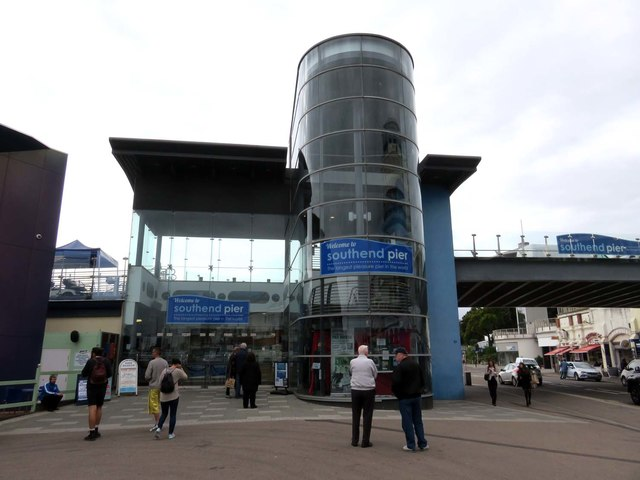 The entrance to Southend Pier