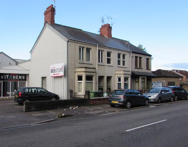 Row of three houses, Sloper Road, Cardiff