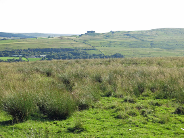 Rough pastures below Hunter's Well House