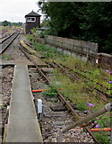 SO8555 : Worcester Shrub Hill Station signalbox by Jaggery