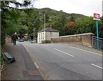 SS9993 : Across Salem Terrace railway bridge, Llwynypia by Jaggery