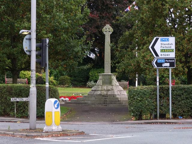 War Memorial at corner of Liverpool Road and Junction Lane, Burscough