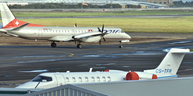 CS-TFR and HB-IZJ, Belfast City Airport (October 2017)