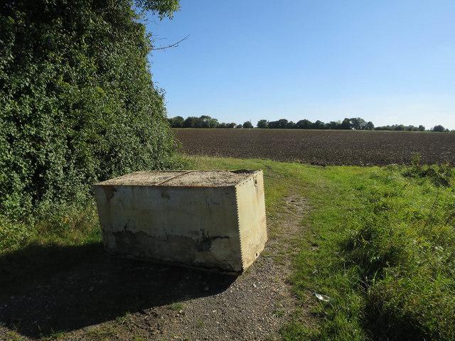 Blocked field entrance off Melton Road