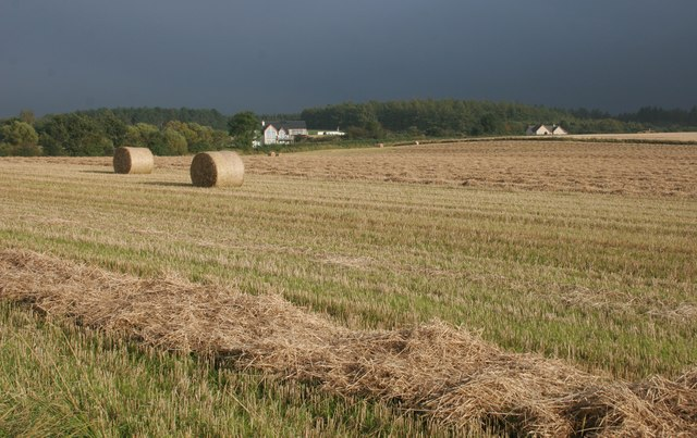 Recently harvested field, Clochan