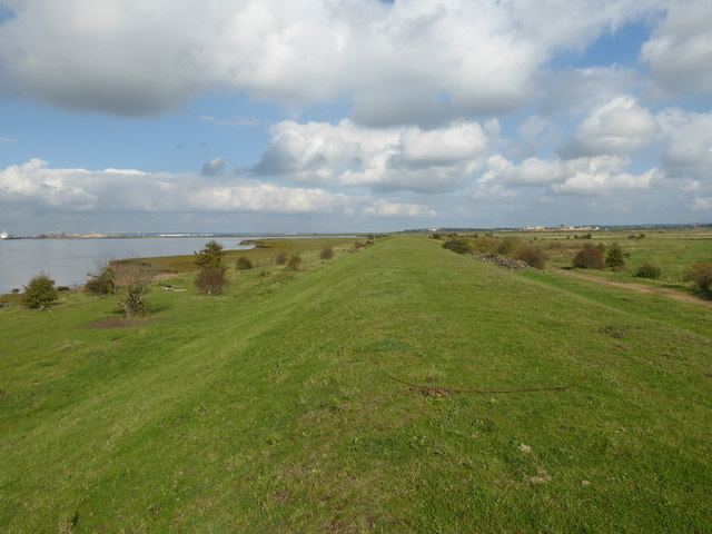 On the Saxon Shore Way alongside Higham Saltings