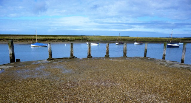 Quayside at Burnham Overy Staithe in Norfolk