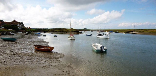 Boats on an out-going tide