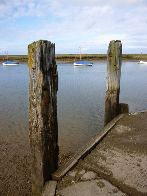 Timber posts at Burnham Overy Staithe, Norfolk