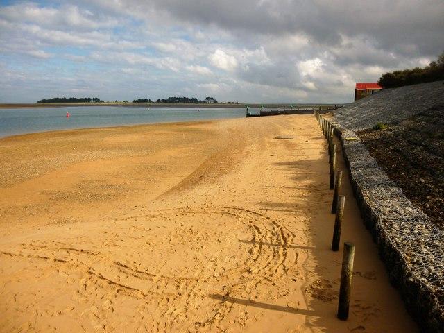 Sea defences at Wells-Next-The-Sea