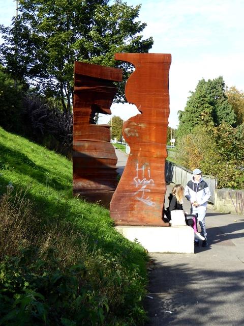 Sculpture beside the River Boyne