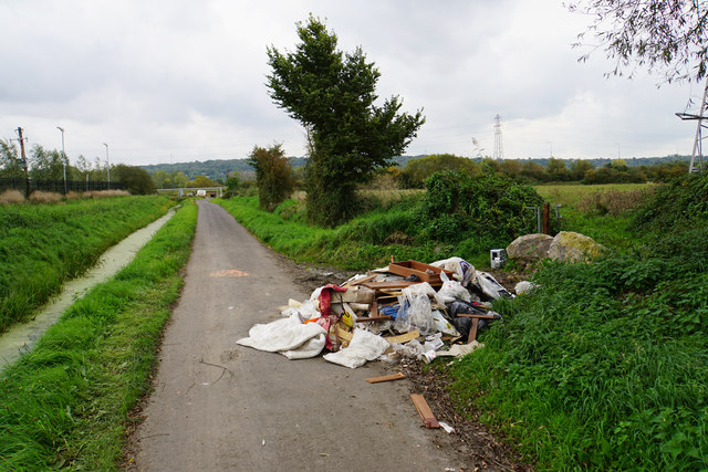 Flytipping on Lawrence Weston Road
