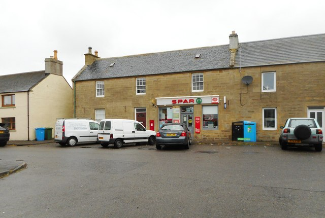 Spar shop and post office, Main Street, Balintore