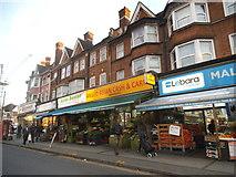 TQ1785 : Shops on Harrow Road, Wembley by David Howard
