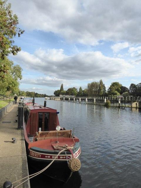 The Thames by Teddington Weir