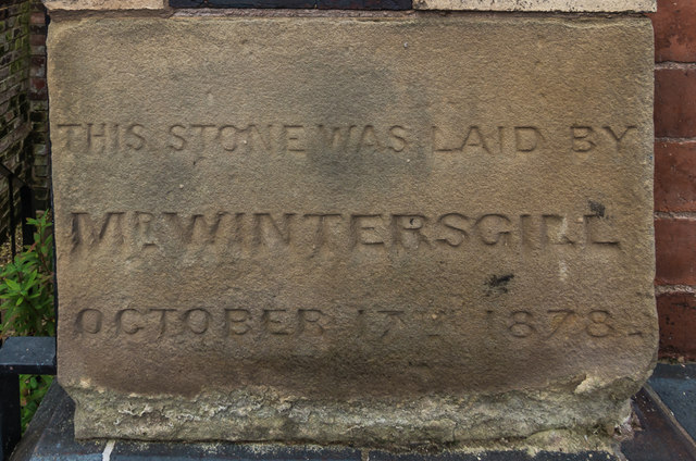 Foundation stone, former Zion Methodist Chapel, New Road