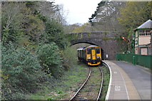 SX4563 : Plymouth train arriving, Bere Ferrers by N Chadwick