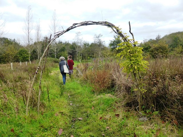 Entrance to Food Forest area at Wishtree Permaculture Centre