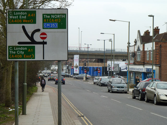 Page Street nears A1 junction