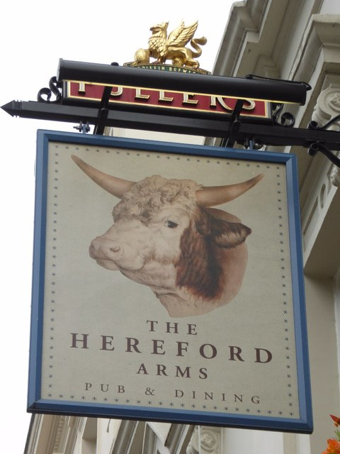Hereford Arms inn sign