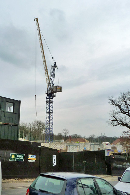 Crane on building site, Mill Hill