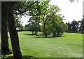 J0710 : Watery hazard on the Ballymascanlon Golf Course by Eric Jones