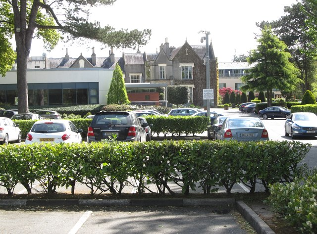 The Ballymascanlon House Hotel viewed from the car park